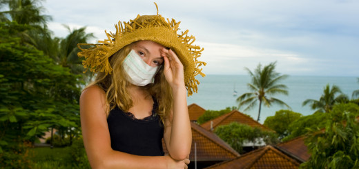 teenager with face mask
