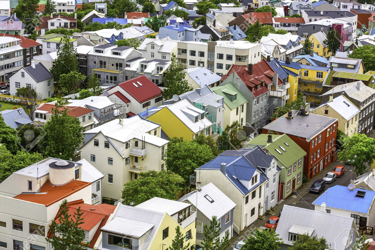Colorful houses in Reykjavik, Iceland