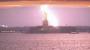 Американскую статую Свободы поразила молния. ВИДЕО